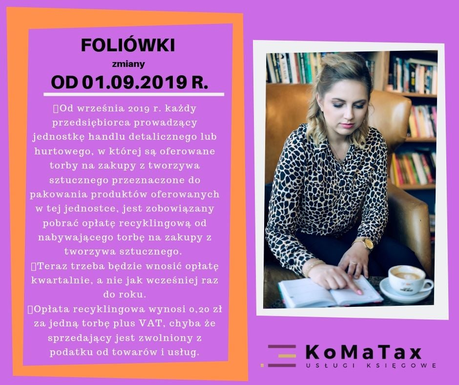Foliówki zmiany od 01.09.2019r.
