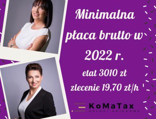 Minimalne zarobki 2022